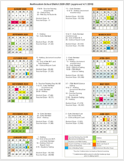 Northeastern 2020 Calendar District Calendar / 2020 2021 Calendar (at a Glance)